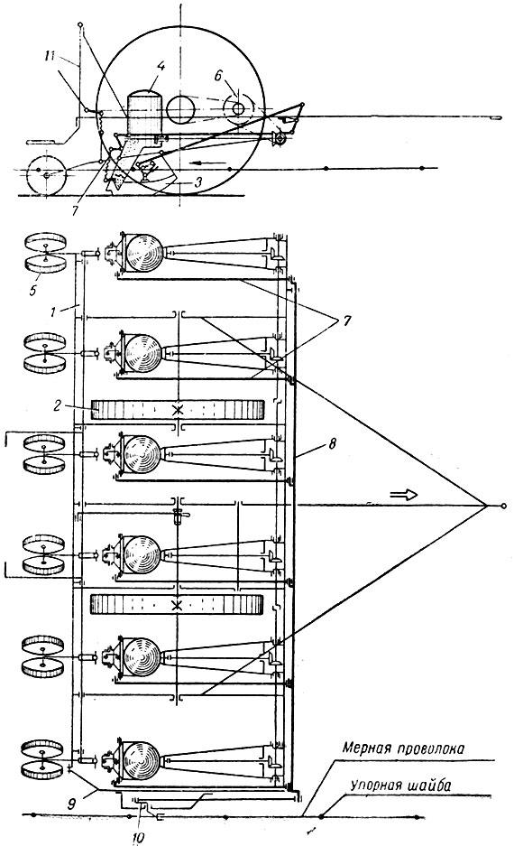 Схема сеялки СКГ-6