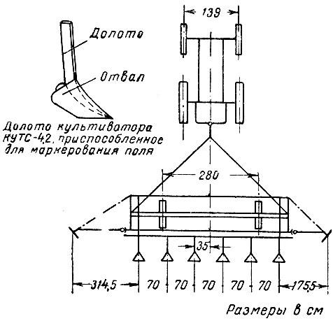 Установка культиватора КУТС-4
