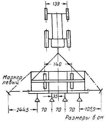 Установка культиватора КУТС-2