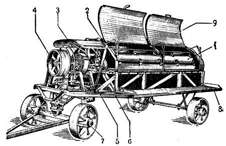 Мяльно-трепальная машина НП-9