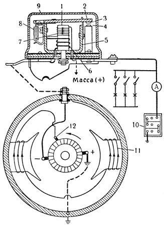 Схема трёхщёточного генератора